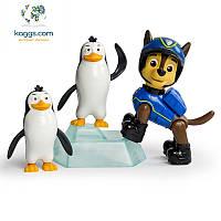 Щенячий патруль:  набор щенок-спасатель и зверюшки Гонщик и пингвины SM16659-1 Spin Master