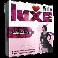 """Ароматизированные презервативы Luxe Big Box """"Коко Шанель"""", 3 шт."""