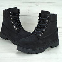 Зимние женские ботинки Timberland 6 inch black с натуральным мехом. Фото в живую. Топ реплика