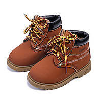 Детские стильные зимние ботинки Comfy 21-25 размер коричневые