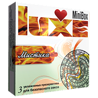 """Презервативи із крапковою структурою Luxe Mini Box """"Містика"""", 3 шт."""