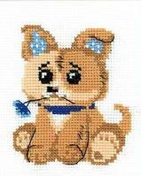 Набор для вышивания крестом Риолис НВ-131 Игрушечный щенок ш 13х16