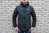 Куртка зимняя мужская с капюшоном черная (Реплика ААА+)