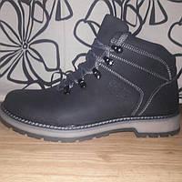 Мужские кожаные ботинки черного цвета размерный ряд 40-45