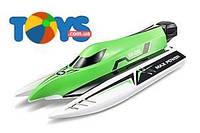 Катер на р/у High Speed Boat бесколлекторный зеленый, WL-WL915G