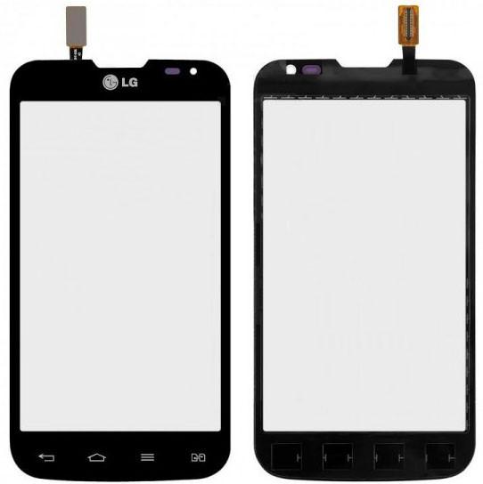 Сенсор LG D325 Optimus L70 black (оригинал), тач скрин для телефона см