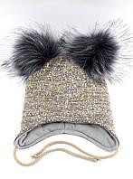 Теплая шапка детская 48-52р оптом