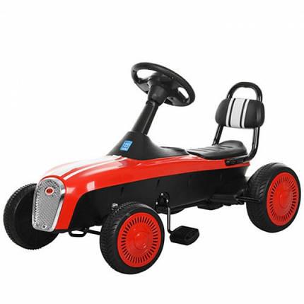 Детский педальный картинг красный M 3413-3, фото 2