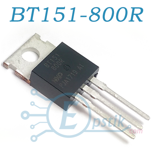 BT151-800R, тиристор, 12А 800В 15мА, TO220