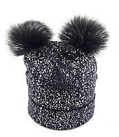 Теплая шапка детская 52-58р