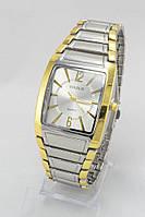 Мужские наручные часы Goldlis (серебристый циферблат с золотыми полосками) (Копия), фото 1