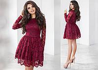 Платье из красивого набивного гипюра 6 цветов тк2071