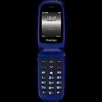 Телефон кнопочный раскладушка на 2 сим карты Prestigio Grace B1 синий