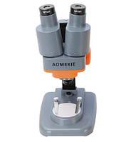 Микроскоп стереоскопический бинокулярный AOmekie 40X с подсветкой