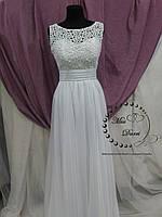 Свадебное платье ампир белое