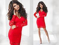 Платье женское   из гипюра с подкладкой, 7 цветов арт 2696-93
