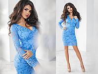 Платье футляр из набивного гипюра 7 цветов тк1130