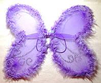 Крылья феи с пухом, сиреневые (50Х40)