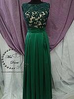 Вечернее платье зеленое выпускное платье, фото 1