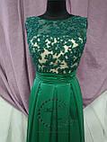 Вечернее платье зеленое/ выпускное платье, фото 2