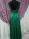 Вечернее платье зеленое/ выпускное платье, фото 3