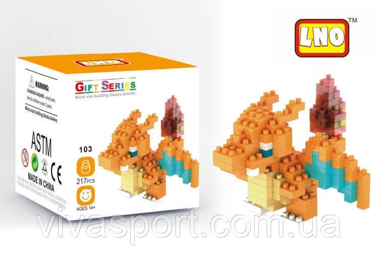 Блочный конструктор LNO Покемон Иви, развивающая детская игрушка