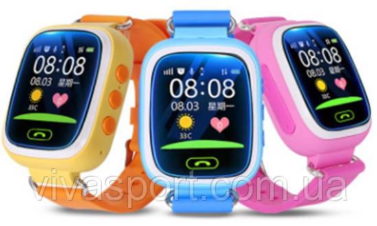 """Детские смарт-часы Q80 с GPS и дисплеем 1.44"""", умные часы для ребенка"""