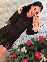 Красивое элегантное кружевное платье черное и бордо