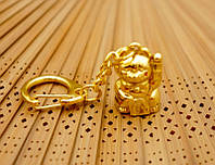 """Брелок """"Манэки Нэко"""" металл под золото (L = 10 см)"""