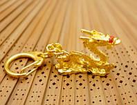 """Брелок """"Дракон"""" металл под золото (L = 10 см)"""