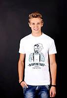 Белая футболка с принтом  В маке  для мужчин  и женщин