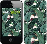 """Чехол на iPhone 4s Банановые листья """"3078c-12-8956"""""""