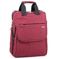 Сумка-рюкзак Dolly 368 трансформер две ручки городской формат А4 два отдела 31см х 37см х 20см Красный, фото 1