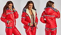 Куртка женская  на синтепоне с овчиной, 6 цветов арт 2706-453