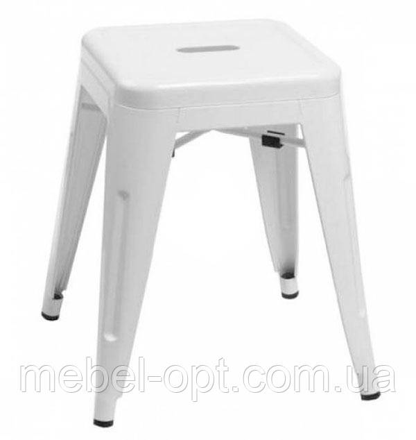 Стул-табурет Tolix H 45 low stool AC-009 белого цвета, лофт, дизайн Xavier Pauchard