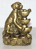 Собака под бронзу с Чашами Богатства