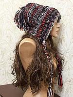 Объемная шапка, вязаная вручную, веселая цветная шапка