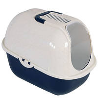 Moderna МОДЕРНА МЕГАКОМФИ КЭТ туалет для кошек, закрытый 66х46х50 см , кобальт синий см.