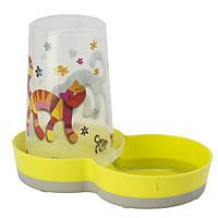 Moderna Tasty Friends Forever МОДЕРНА 2в1 автокормушка автопоилка для кошек и собак, пластик, лимонный, дизайн Друзья Навеки, 1,5 л