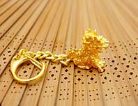 """Брелок """"Цилинь"""" металл под золото (L = 10 см)"""