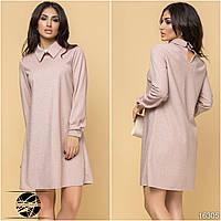 Женское платье с люрексом розового цвета. Модель 16305