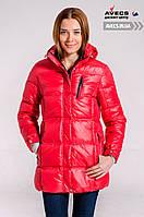 Женская зимняя куртка подростковая Avecs 7034123 Red для девочек холлофайбер недорого | Avecs куртка размер
