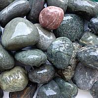Декоративная галька cеро-зелёная Green-Grey 20-40 (мешок 25кг)