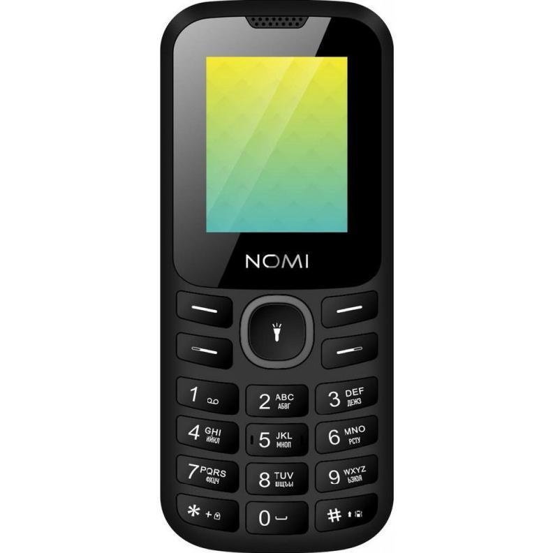 c682767fb71de Простой кнопочный телефон с фонариком на 2 сим карты Nomi i184 чёрно-серый  - МобилХата