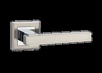 """Дверная ручка на розетке MVM """"LOFT"""" Z-1290 SN/CP (матовый никель/полированный хром)"""