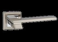 """Дверная ручка на розетке MVM """"CITY"""" Z-1324 SN/CP (матовый никель/полированный хром)"""