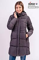 Женская зимняя куртка Avecs 7749550 Grey ниже колен наполнитель тинсулейт недорого | Avecs куртка размер
