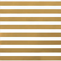Кардсток - American Crafts - Thick Gold Foil Stripe On White - 30x30
