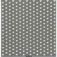 Кардсток - Bazzill - Heart WWhite - Rock Candy -Foiled - 30х30
