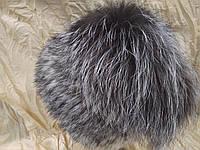 Меховая шапка из норки крестовки и чернобурки на вязанной  основе